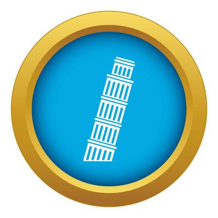 Tower of Pisa icon blue vector isolated on white background for any design Illustration