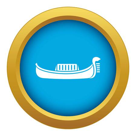 Venice gondola icon blue vector isolated on white background for any design Ilustração