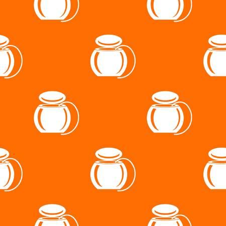 Dental floss pattern vector orange for any web design best