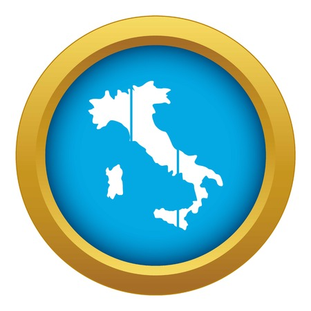 Map of Italy icon blue vector isolated on white background for any design