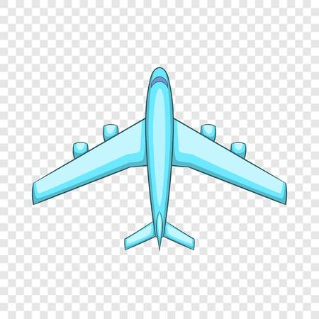 Airliner icon, cartoon style