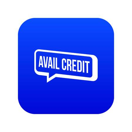 Avail credit icon blue vector Stock Vector - 123638696