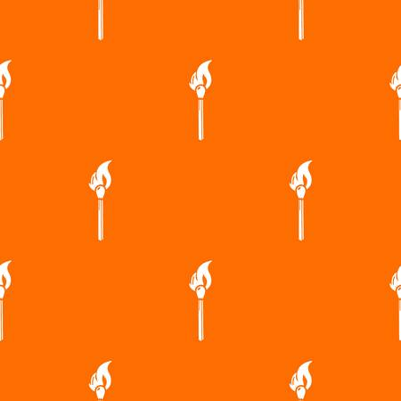 Burning match pattern vector orange for any web design best Illustration