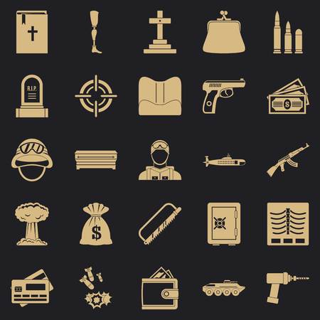 Unleash war icons set. Simple set of 25 unleash war vector icons for web for any design