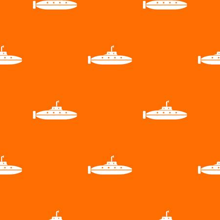 Research submarine pattern vector orange