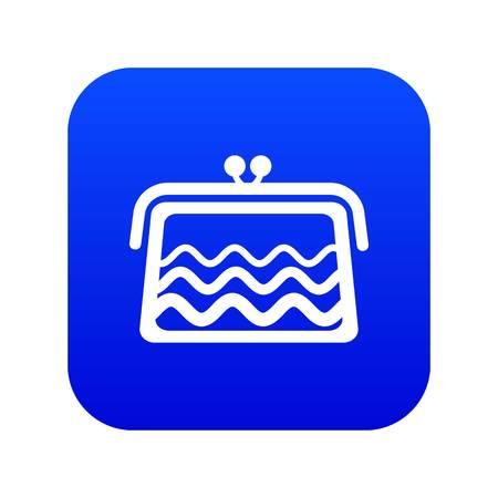 Wallet icon blue vector Stock Vector - 123638881