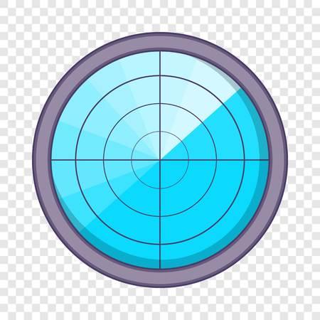 Radar icon, cartoon style Illustration