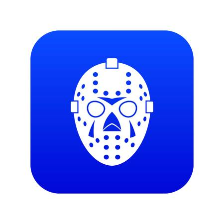 Goalkeeper mask icon digital blue 向量圖像