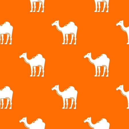 Camel pattern vector orange