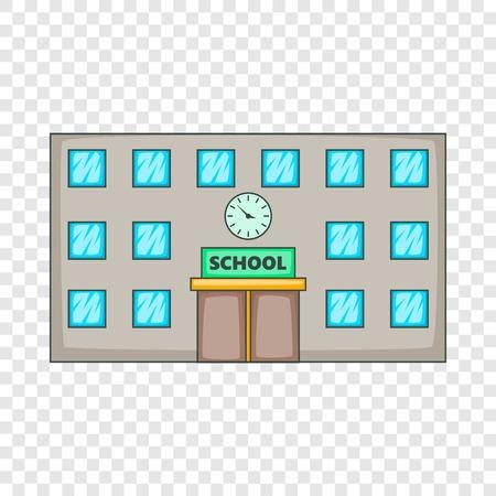 School icon, cartoon style