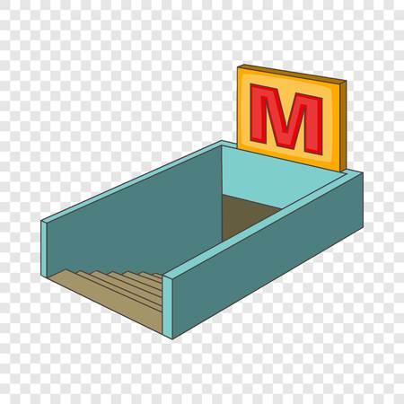 Metro icon, cartoon style