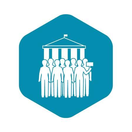 People meeting icon, simple style Ilustração
