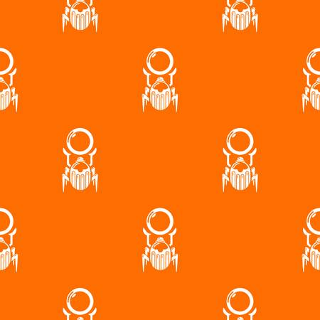 Scarab pattern vector orange Stock Illustratie