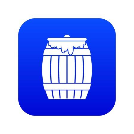 Honey keg icon digital blue