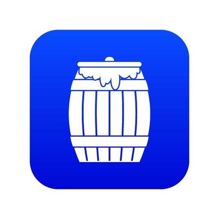 Honey keg icon digital blue
