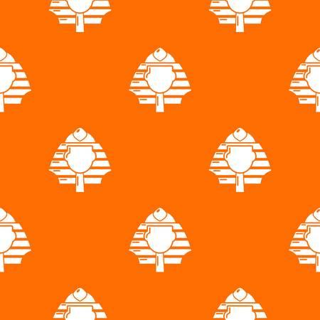 Pharaoh pattern vector orange for any web design best