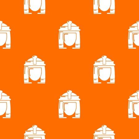Cleopatra pattern vector orange for any web design best