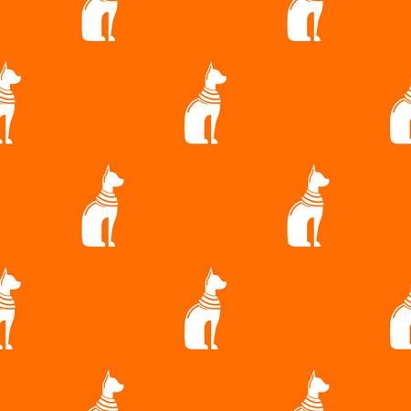 Cat egypt pattern vector orange for any web design best