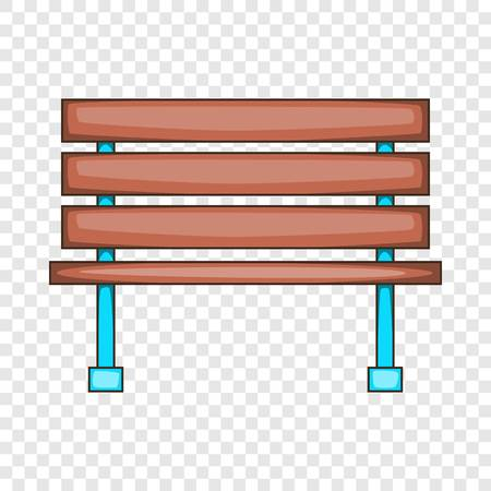 Bench icon, cartoon style