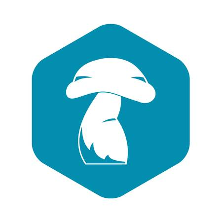 Good mushroom icon, simple style