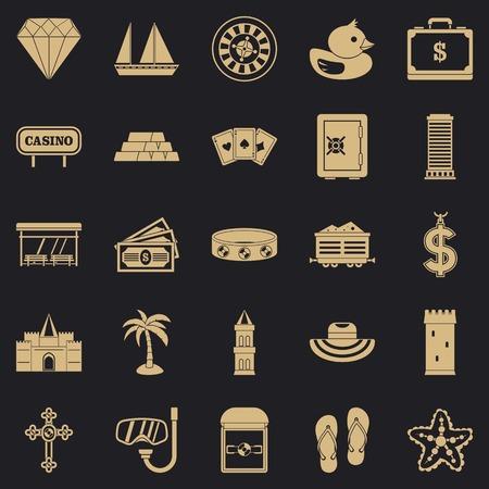 Abundance icons set. Simple set of 25 abundance vector icons for web for any design