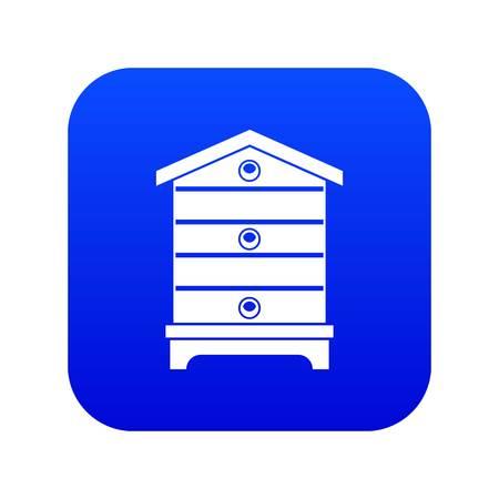 Hive icon digital blue