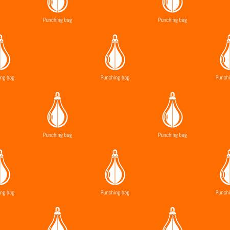 Punching bag pattern vector orange for any web design best
