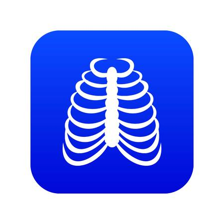 Rib cage icon digital blue
