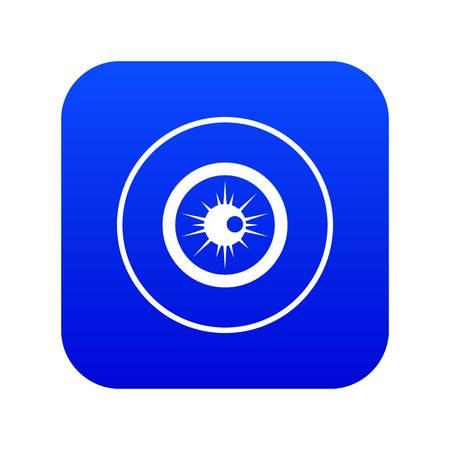 Eye icon digital blue Illustration