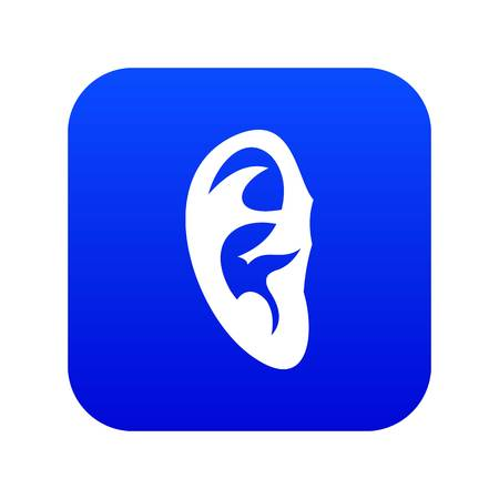 Ear icon digital blue Illustration