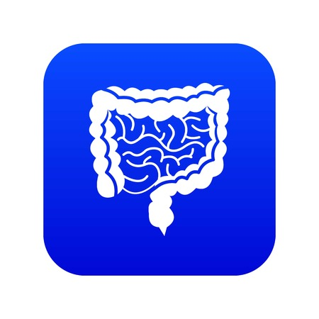 Intestines icon digital blue