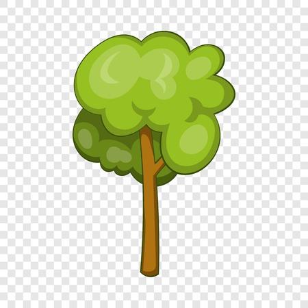 Tree icon, cartoon style