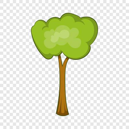 Park tree icon, cartoon style
