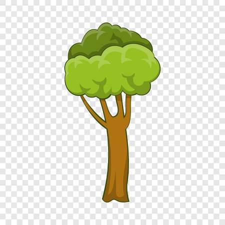 High tree icon, cartoon style