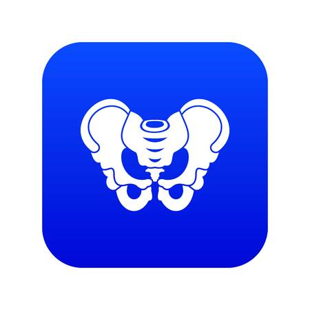 Pelvis icon digital blue Çizim