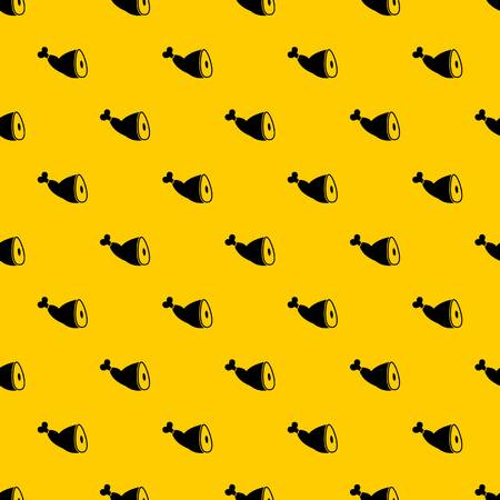 Roast pork knuckle pattern seamless vector repeat geometric yellow for any design