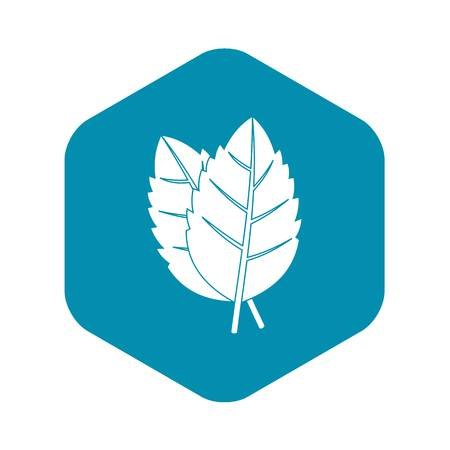 Two basil leaves icon. Simple illustration of two basil leaves vector icon for web Illustration