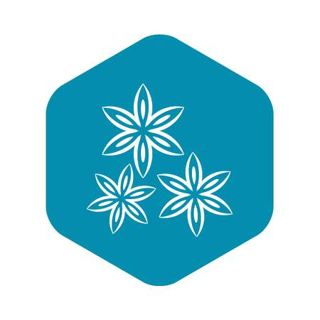 Star anise icon. Simple illustration of star anise vector icon for web Illustration