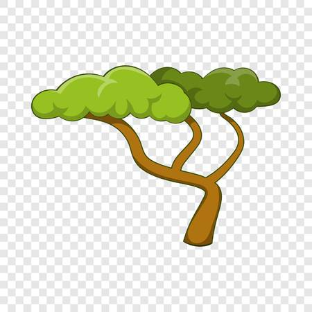 Low tree icon, cartoon style