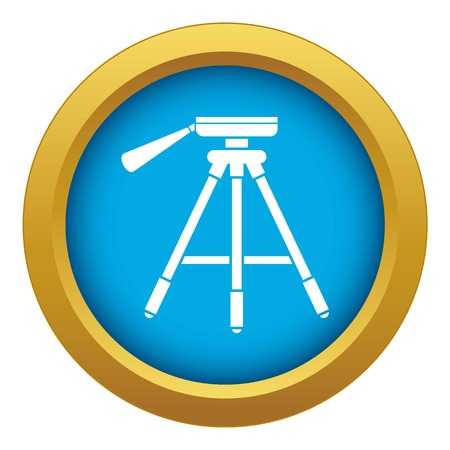 Tripod icon blue vector isolated on white background for any design