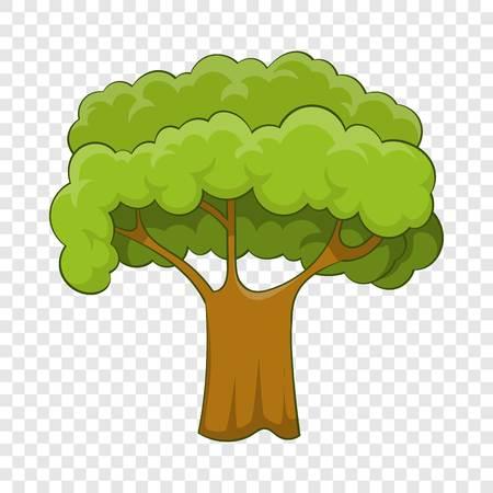 Old tree icon, cartoon style