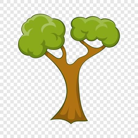 Branchy tree icon, cartoon style
