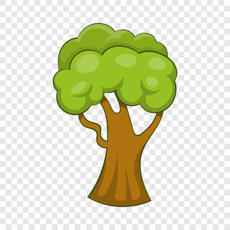Forest tree icon, cartoon style