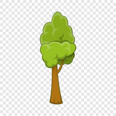 Summer tree icon, cartoon style