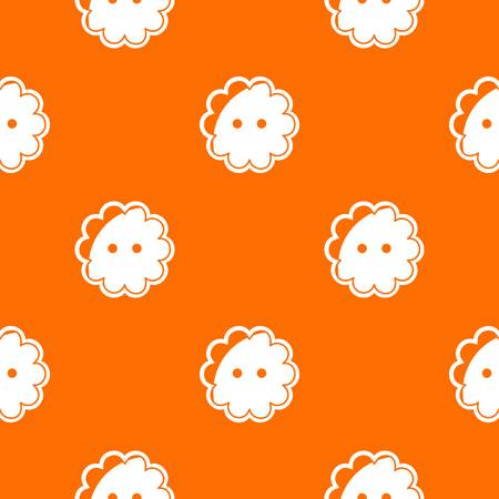 Flower button pattern vector orange for any web design best