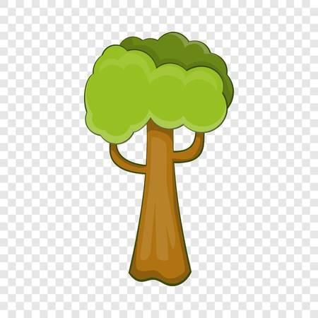 Big tree icon. Cartoon illustration of big tree vector icon for web