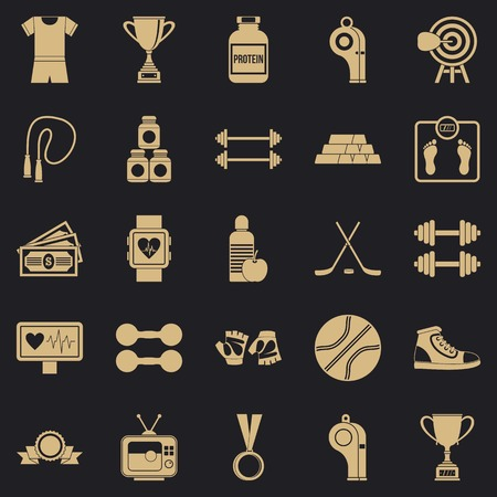 Tussle icons set. Simple set of 25 tussle vector icons for web for any design