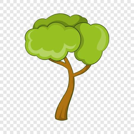 Deciduous tree icon. Cartoon illustration of deciduous tree vector icon for web