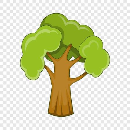 Garden tree icon. Cartoon illustration of garden tree vector icon for web Illusztráció