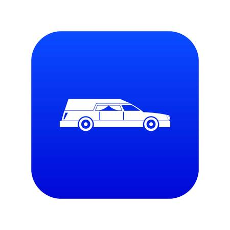 Hearse icon digital blue for any design isolated on white vector illustration